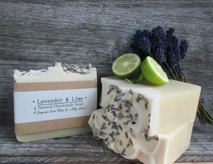 Lavender and Lime Large Soap Bar