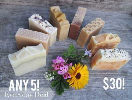 ANY 5 Small Soaps- A great way to sample the range!