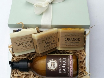 DIVINE Lotion and 3 Soap Bar Gift Box