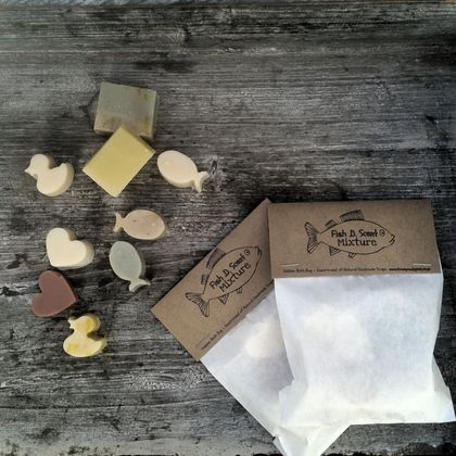 Fish . D. Scent  MIXTURE !  Kiddie Sized All Natural Bath Assortment