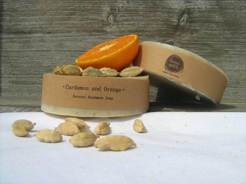 Creamy Cardomom  and Orange Soap~