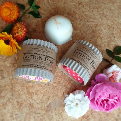 Lotion Bar in Beeswax Wrap