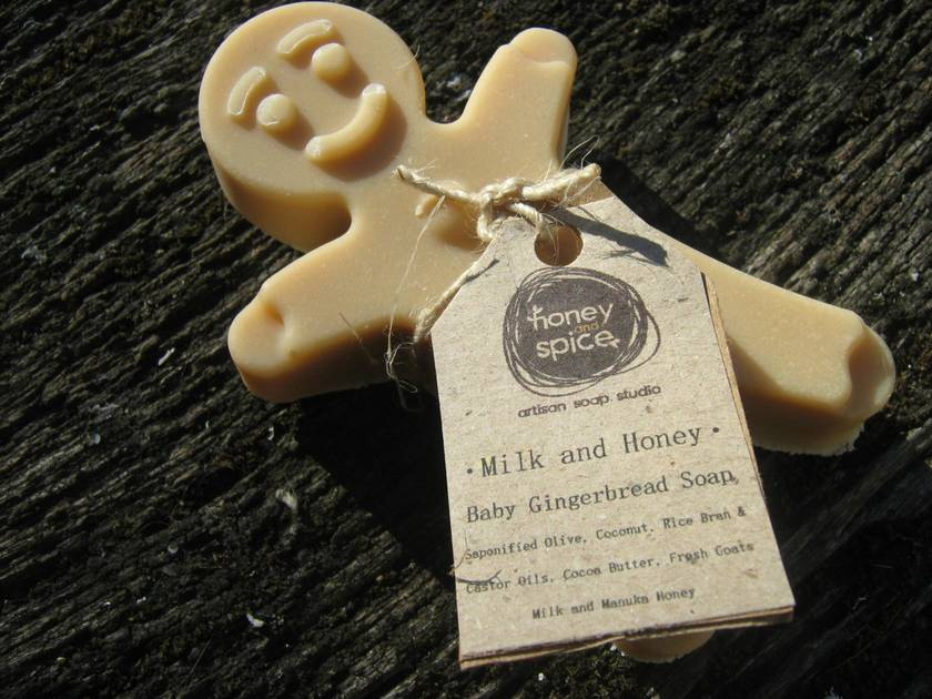 Baby Gingerbread Men -Natural Milk and honey Soap