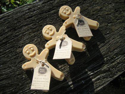 Baby Gingerbread Men -Natural Milk and honey Soap