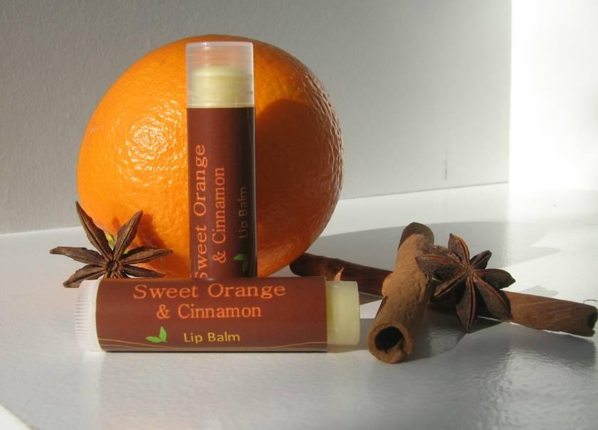 Sweet Orange and Cinnamon Lip Tube