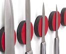 Magnetic - Knife Disc RED - single wall mounted knife rack