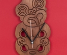 "The ""Tiki"" wall mounted clock by BillDan Design"