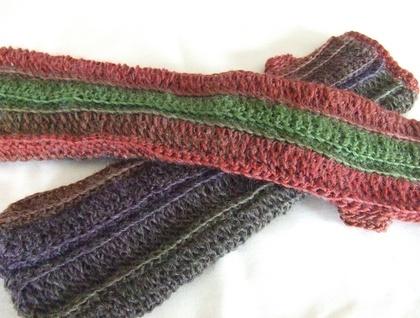 Autumn Colours Fingerless Mitts/Wrist Warmers