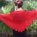 Red Lacy Shawl/Scarf