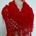 Red Triangle Shawl and/or Scarf