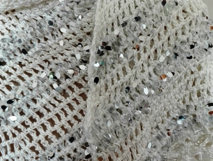 White Sparkly Shawl/Scarf