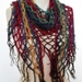 Green, Gold, Burgandy and Blue Triangle Shawl and/or Scarf