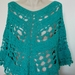 Aqua Cotton Crochet Poncho