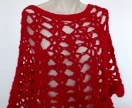 Lacy Red Poncho