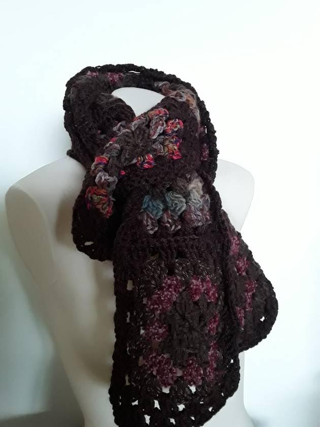 It's Autumn! Granny square scarf