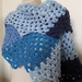 Blue spiky dragons tail scarf