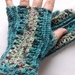 Turquoise Lightweight Lace Fingerless Gloves