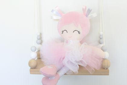 Ballerina Cloth Doll with Tutu
