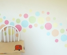 Summer sorbet dots – reusable fabric wall decal