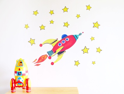 Red Rocket wall decal – Medium