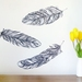 Feather wall decals – large