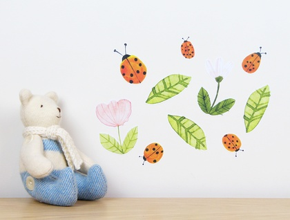 Ladybirds wall decal – small