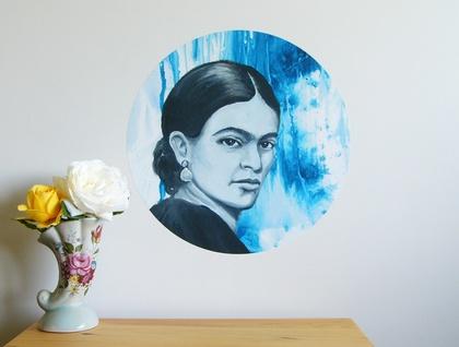 Frida Kahlo dot wall decal – medium