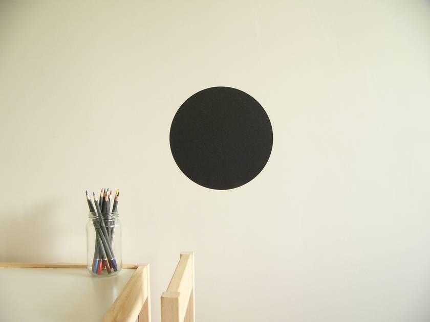 Black Chalkboard dot wall decal – small