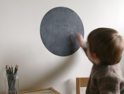 Black Chalkboard dot wall decal – medium
