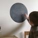 Black Chalkboard dot wall decal – medium