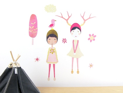 Olive & Emmeline wall decal – medium