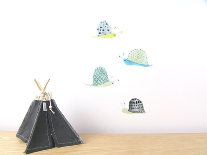 Snails wall decal – small