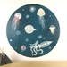 Lumo wall decal – extra large | jellyfish and octopus wall decal
