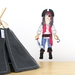 Michael's Pirate Costume dress up doll wall decal – small