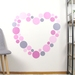 Dusky pink dots – reusable fabric wall decal