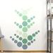 Jungle green dots – reusable fabric wall decal