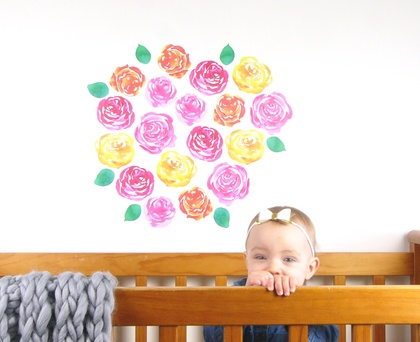Roses wall decal – large