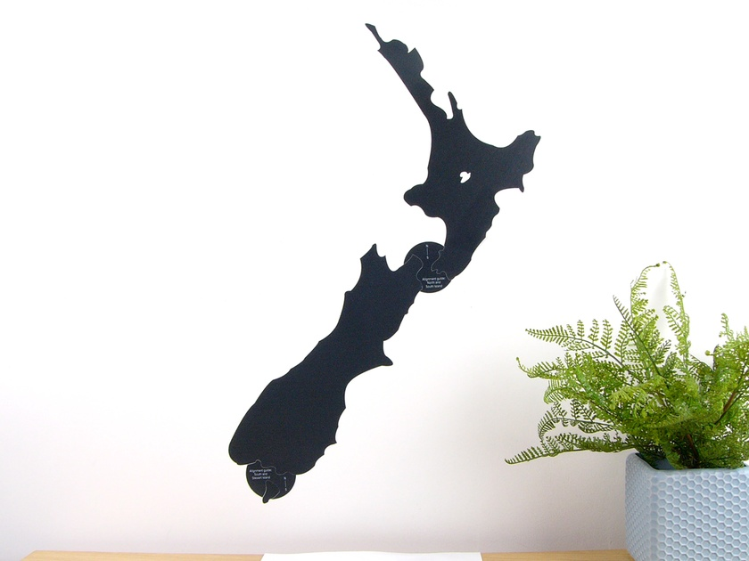 New Zealand map chalkboard wall decal – Medium