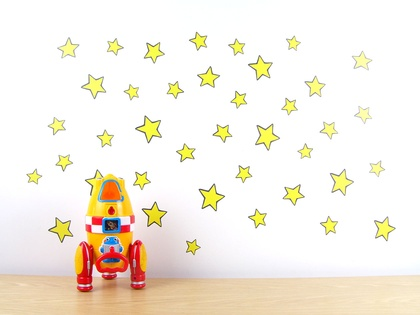 Yellow Stars wall decal – Medium