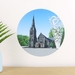 Christchurch Cathedral & Chalice small dot wall decal by Ira Mitchell-Kirk