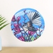 Fantail in Harakeke small dot wall decal by Ira Mitchell