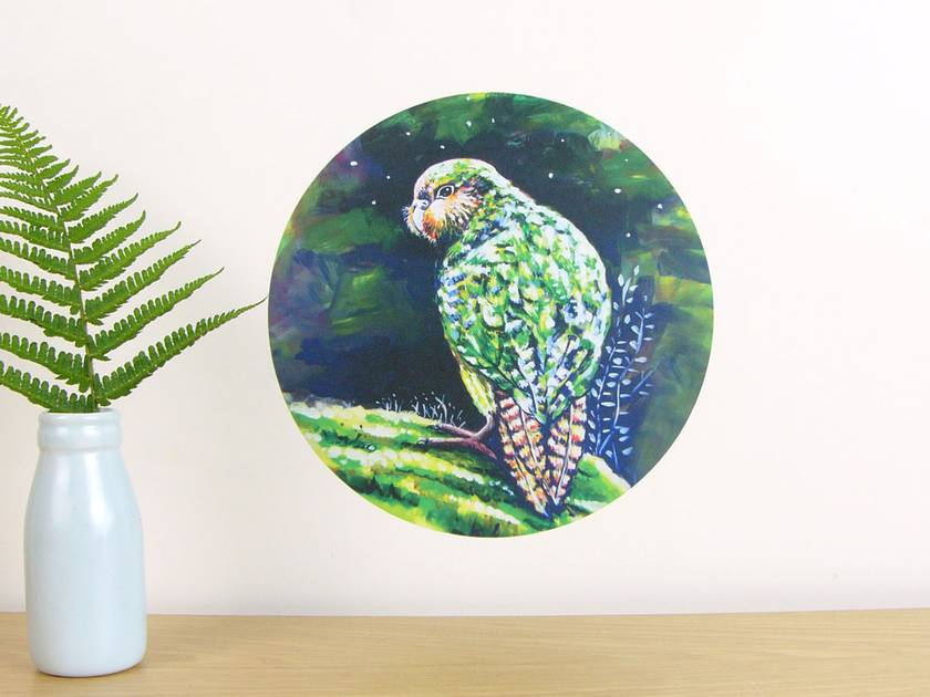 Kakapo small dot wall decal by Ira Mitchell-Kirk