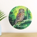Morepork small dot wall decal by Ira Mitchell-Kirk