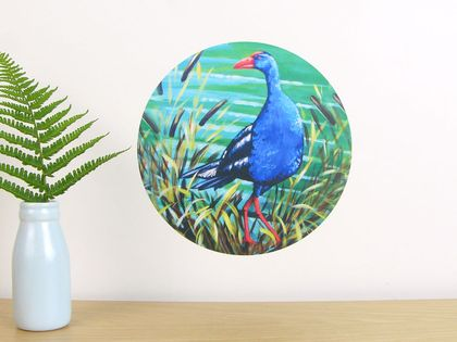 Pukeko small dot wall decal by Ira Mitchell-Kirk