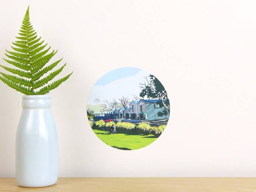 Boat Sheds tiny dot wall decal by Ira Mitchell-Kirk