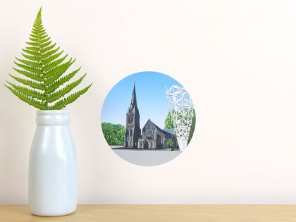 Christchurch Cathedral & Chalice tiny dot wall decal by Ira Mitchell-Kirk