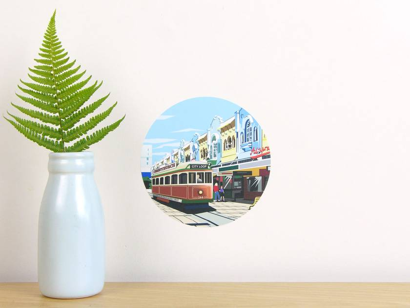 New Regent Street tiny dot wall decal by Ira Mitchell-Kirk