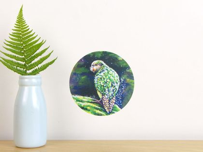 Kakapo tiny dot wall decal by Ira Mitchell-Kirk