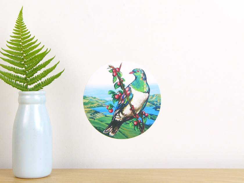 Kereru tiny dot wall decal by Ira Mitchell-Kirk