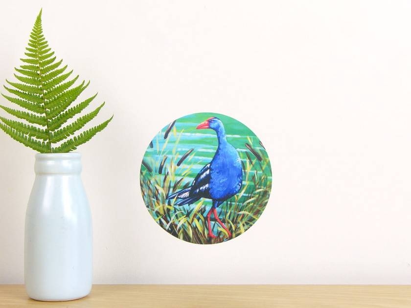 Pukeko tiny dot wall decal by Ira Mitchell-Kirk